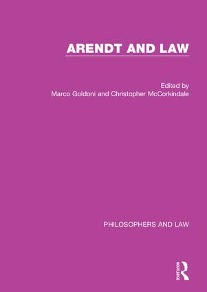 Arendt and Law book cover
