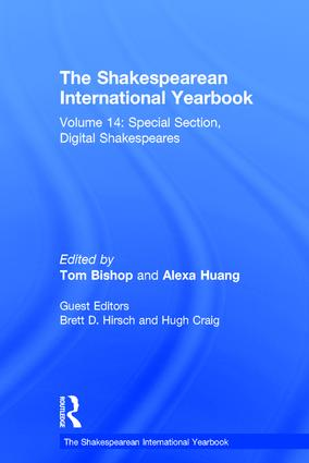 The Shakespearean International Yearbook: Volume 14: Special Section, Digital Shakespeares (Hardback) book cover