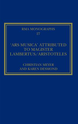 The 'Ars musica' Attributed to Magister Lambertus/Aristoteles book cover