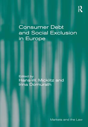 Consumer Debt and Social Exclusion in Europe: 1st Edition (Hardback) book cover
