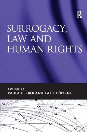 Surrogacy, Law and Human Rights: 1st Edition (Hardback) book cover