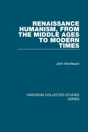 Renaissance Humanism, from the Middle Ages to Modern Times book cover