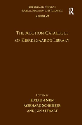 Volume 20: The Auction Catalogue of Kierkegaard's Library (Hardback) book cover