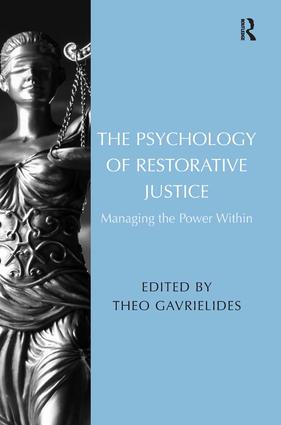 The Group and Cultural Context of Restorative Justice: A Social Psychological Perspective