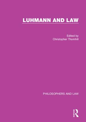 Luhmann and Law book cover