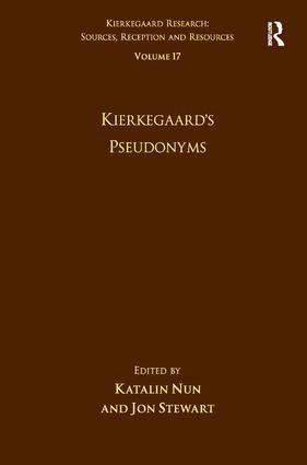 Volume 17: Kierkegaard's Pseudonyms (Hardback) book cover