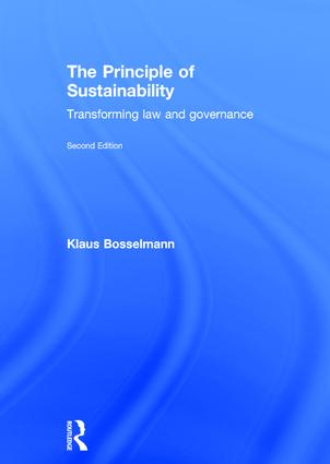 The Principle of Sustainability: Transforming law and governance book cover