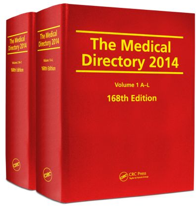 The Medical Directory 2014, 168th Edition: 168th Edition (Hardback) book cover