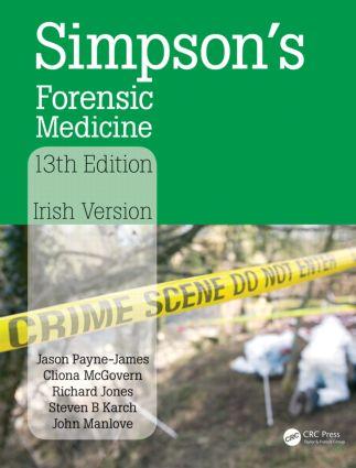 Simpson's Forensic Medicine: Irish Version, 1st Edition (Paperback) book cover