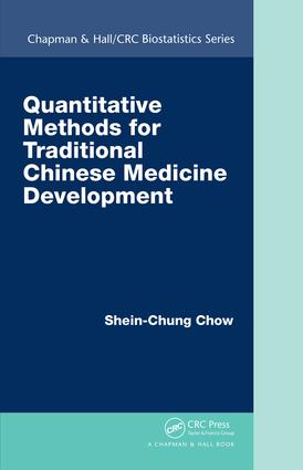 Quantitative Methods for Traditional Chinese Medicine Development book cover
