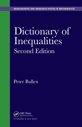 Dictionary of Inequalities: 2nd Edition (Hardback) book cover