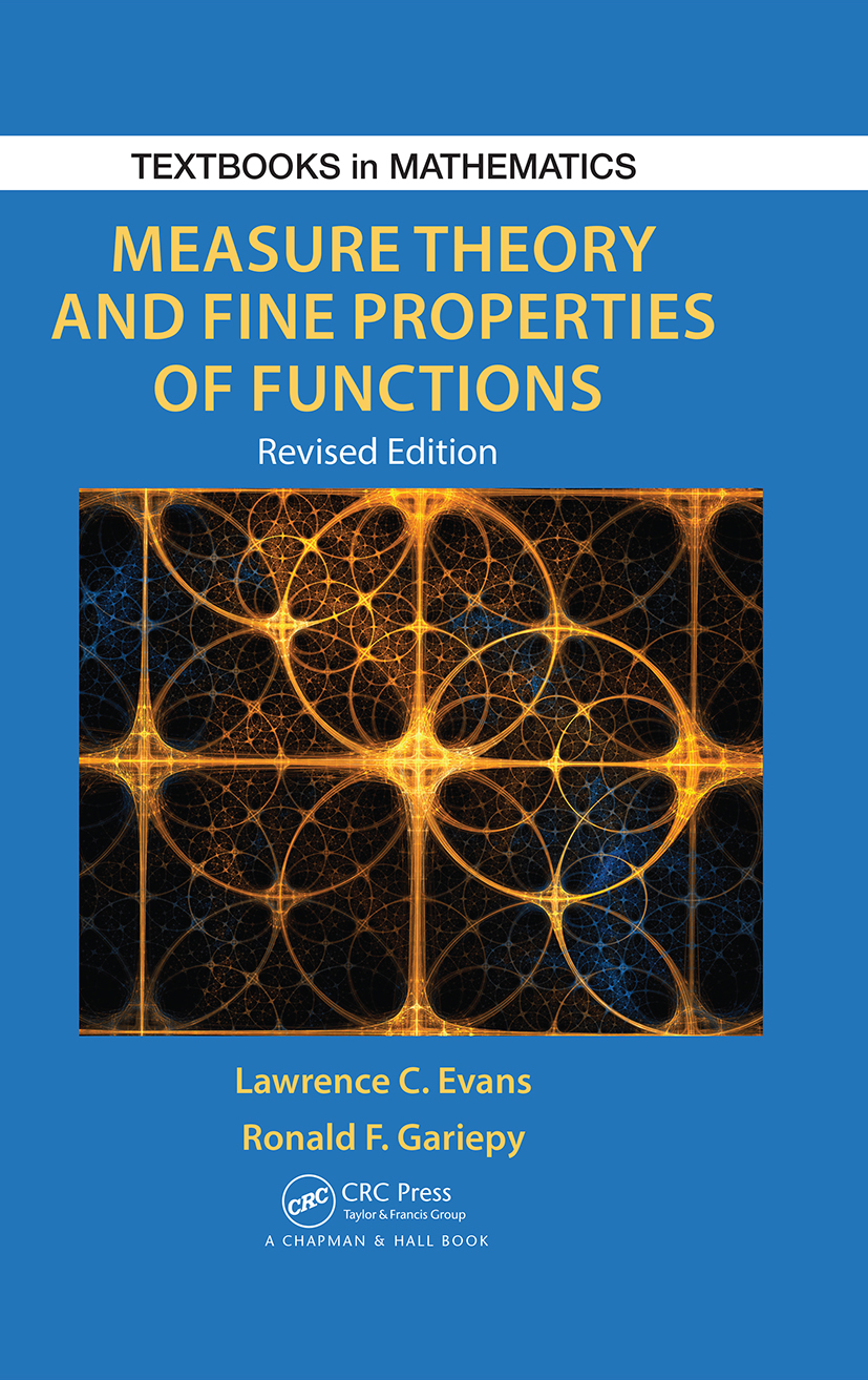 Measure Theory and Fine Properties of Functions, Revised Edition book cover