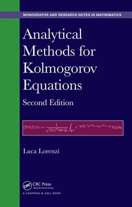 Analytical Methods for Kolmogorov Equations: 2nd Edition (Hardback) book cover