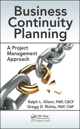 Business Continuity Planning: A Project Management Approach, 1st Edition (Hardback) book cover