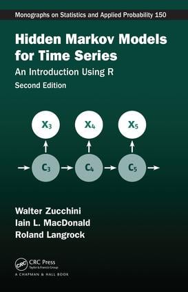 Hidden Markov Models for Time Series: An Introduction Using R, Second Edition book cover