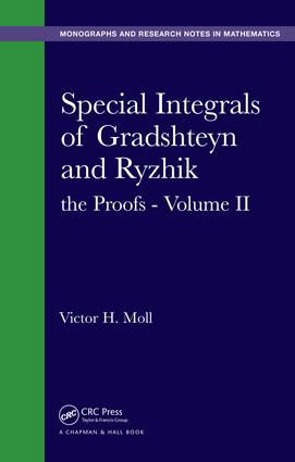 Special Integrals of Gradshteyn and Ryzhik: the Proofs - Volume II, 1st Edition (Paperback) book cover