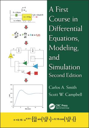 A First Course in Differential Equations, Modeling, and Simulation: 2nd Edition (Hardback) book cover