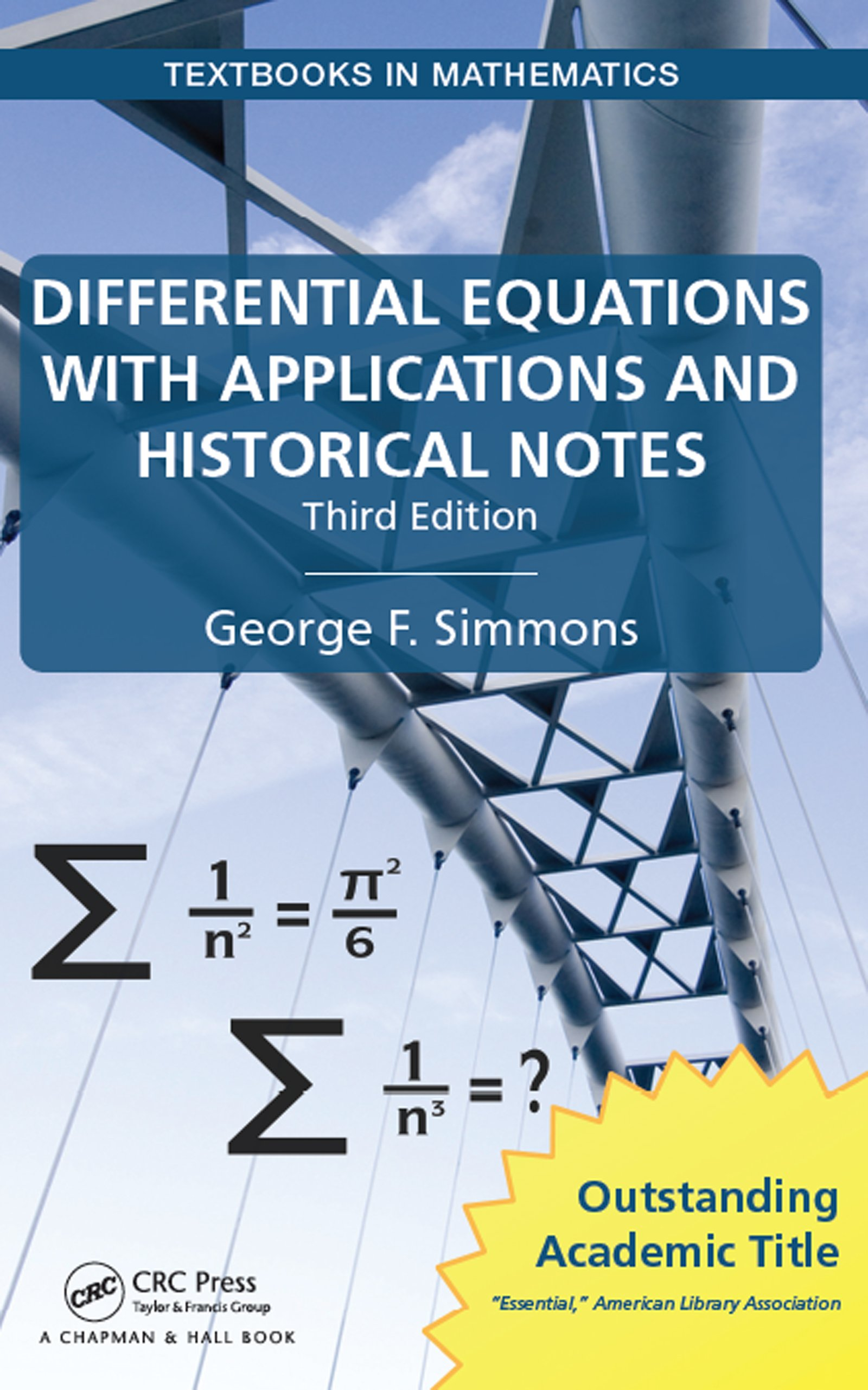Differential Equations with Applications and Historical Notes, Third Edition book cover
