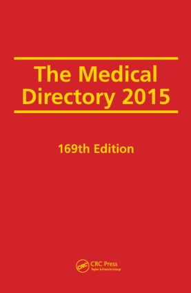 The Medical Directory 2015: 169th Edition (Hardback) book cover