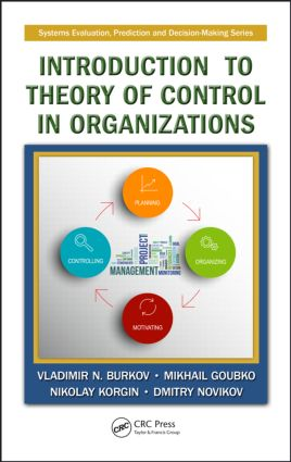 Introduction to Theory of Control in Organizations: 1st Edition (Hardback) book cover