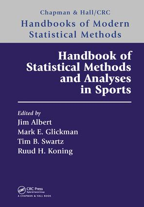 Handbook of Statistical Methods and Analyses in Sports: 1st Edition (Paperback) book cover