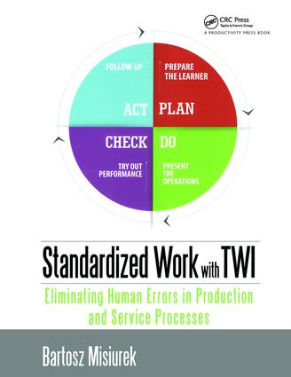 Standardized Work with TWI: Eliminating Human Errors in Production and Service Processes, 1st Edition (Paperback) book cover