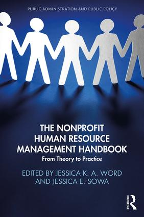 The Nonprofit Human Resource Management Handbook: From Theory to Practice (Hardback) book cover