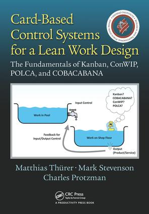 Card-Based Control Systems for a Lean Work Design: The Fundamentals of Kanban, ConWIP, POLCA, and COBACABANA, 1st Edition (Paperback) book cover