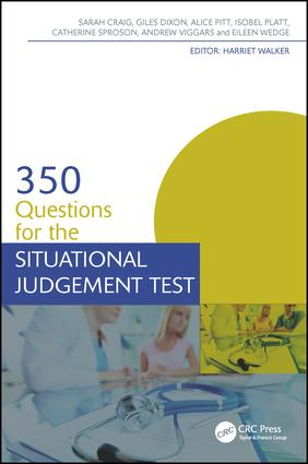 350 Questions for the Situational Judgement Test: 1st Edition (Paperback) book cover