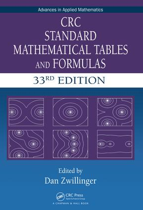 CRC Standard Mathematical Tables and Formulas, 33rd Edition: 33rd Edition (Hardback) book cover