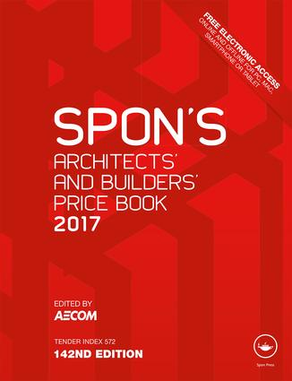 Spon's Architects' and Builders' Price Book 2017 book cover