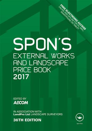 Spon's External Works and Landscape Price Book 2017 book cover