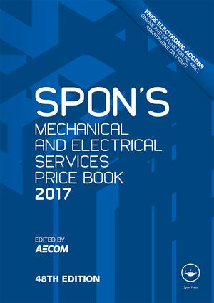 Spon's Mechanical and Electrical Services Price Book 2017 book cover