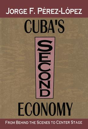 Cuba's Second Economy: From behind the Scenes to Center Stage, 1st Edition (Hardback) book cover