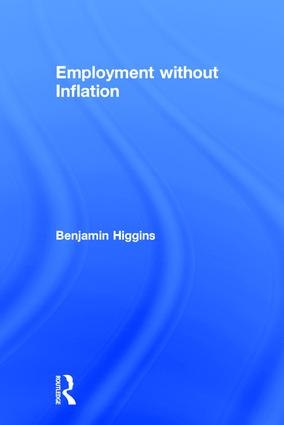 Employment without Inflation: 1st Edition (Hardback) book cover