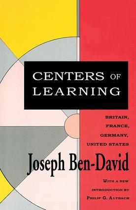 Centers of Learning: Britain, France, Germany, United States, 1st Edition (Paperback) book cover