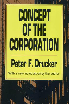 Concept of the Corporation: 1st Edition (Paperback) book cover