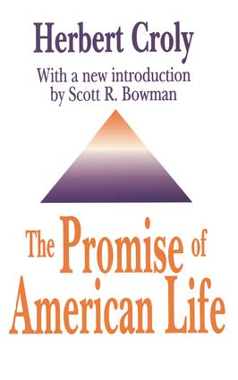 The Promise of American Life: 1st Edition (Paperback) book cover