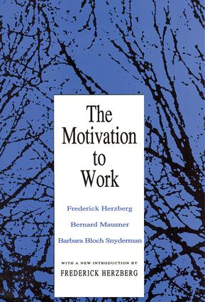 Motivation to Work: 1st Edition (Paperback) book cover