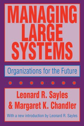 Managing Large Systems: Organizations for the Future, 1st Edition (Paperback) book cover