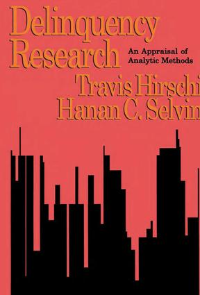 Delinquency Research: An Appraisal of Analytic Methods, 1st Edition (Paperback) book cover