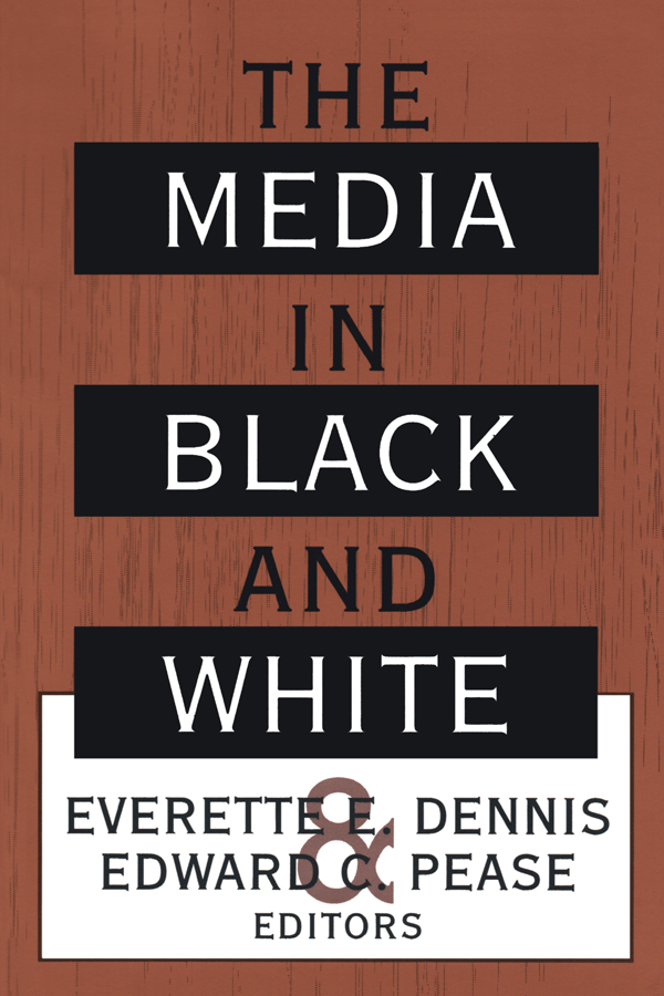 The Media in Black and White: 1st Edition (Paperback) book cover