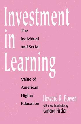 Investment in Learning: The Individual and Social Value of American Higher Education, 1st Edition (Paperback) book cover