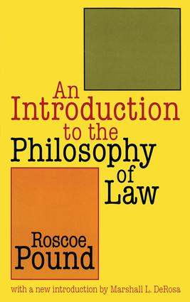 An Introduction to the Philosophy of Law: 1st Edition (Paperback) book cover