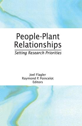 People-Plant Relationships: Setting Research Priorities, 1st Edition (e-Book) book cover
