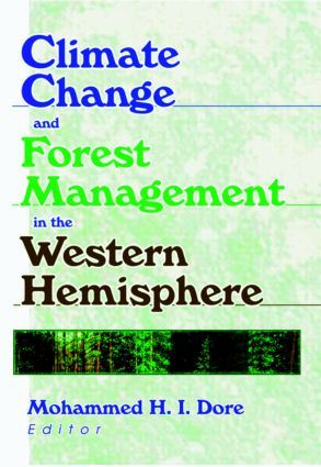 Climate Change and Forest Management in the Western Hemisphere: 1st Edition (Paperback) book cover