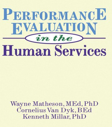 Performance Evaluation in the Human Services book cover
