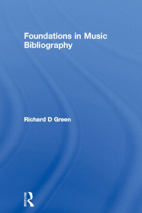 Foundations in Music Bibliography: 1st Edition (Hardback) book cover