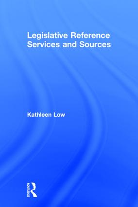 Legislative Reference Services and Sources book cover