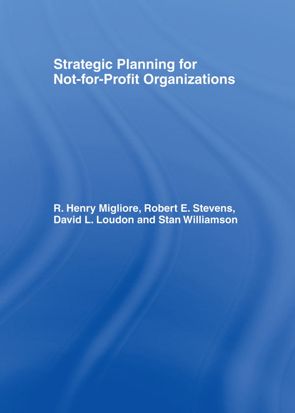 Strategic Planning for Not-for-Profit Organizations book cover